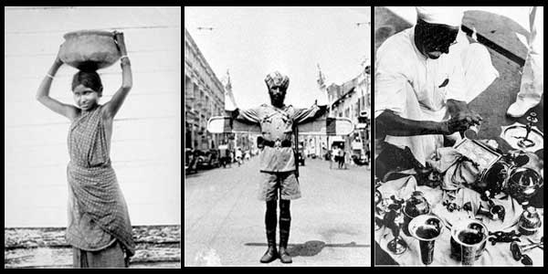 Little India Singapore Historical Professions - Milkmaid, Police Officer and Silver Merchant